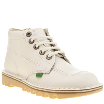 Kickers White Kick Hi Boots