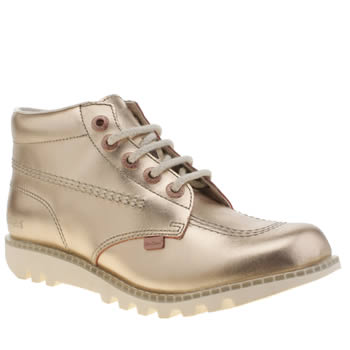 Kickers Rose Gold Kick Hi Boots