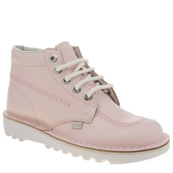 Womens Kickers Pale Pink Kick Hi Boots