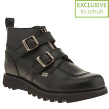 Black Kickers Kick Hi Double Buckle