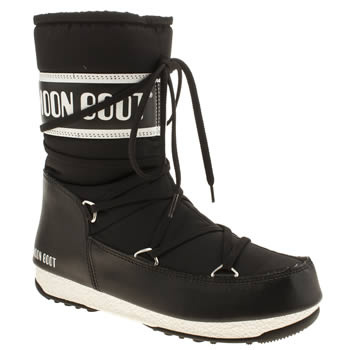 Moon Boot Black & White We Sport Mid Boots
