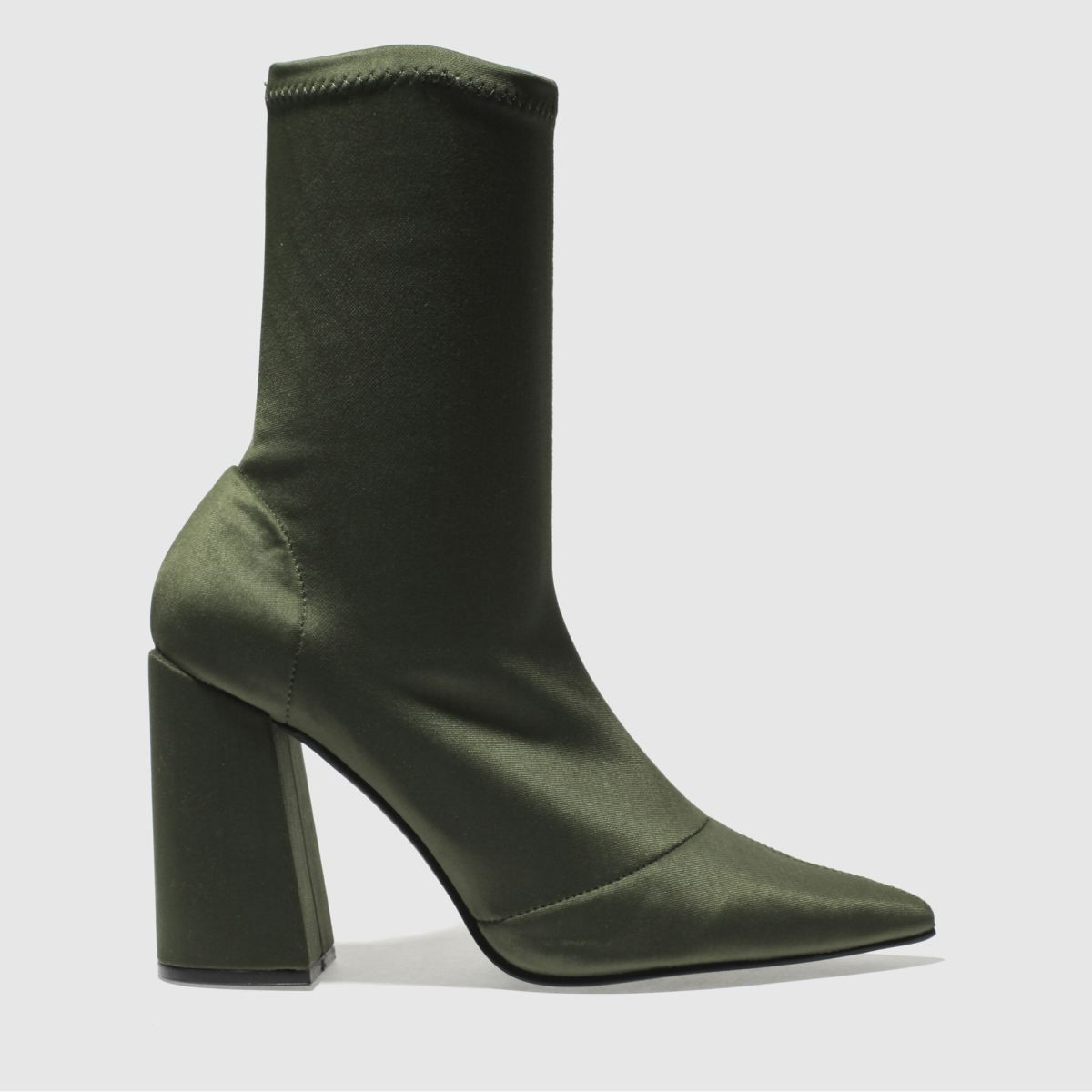 missguided Missguided Khaki Flared Heel Sock Boots