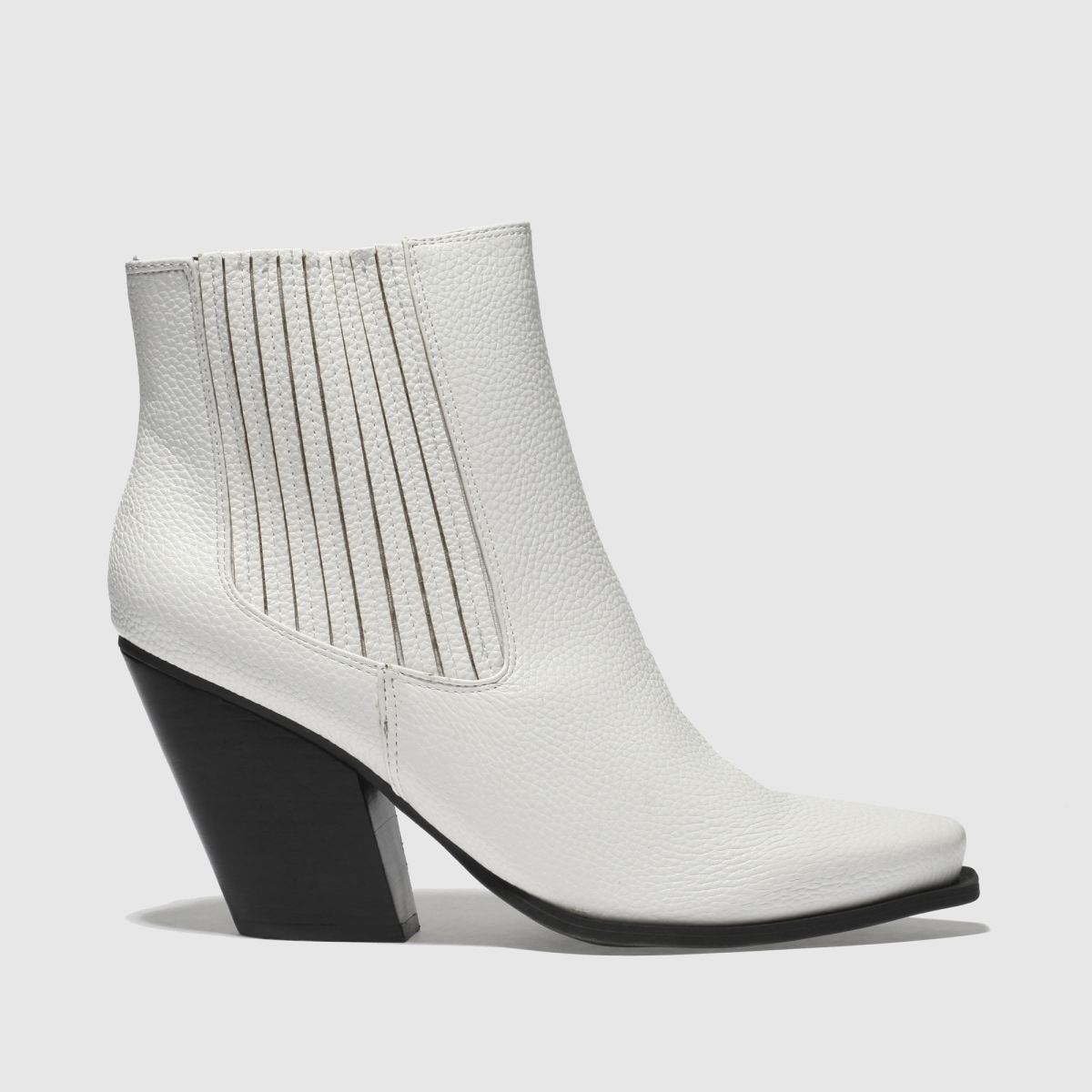 Missguided White Western Ankle Boots