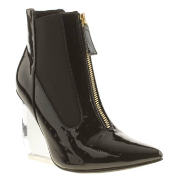 Privileged Black Applause Patent Boots