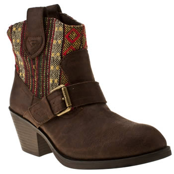 womens rocket dog brown ruben aztec boots