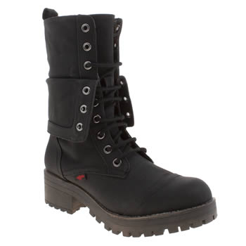 Womens Rocket Dog Black Lawrence Boots