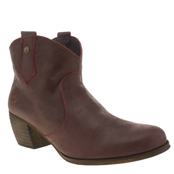 Womens Red Or Dead Burgundy Mountain Boots