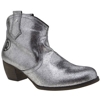Red Or Dead Silver Mountain Metallic Boots