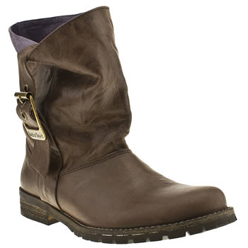 Womens Red Or Dead Dark Brown Grace Ii Boots