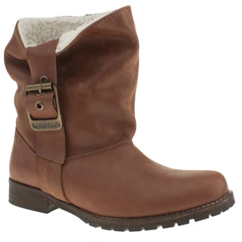 Womens Red Or Dead Tan Grace Fleece Ii Boots