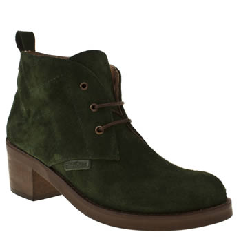 womens red or dead green dot to dot boots