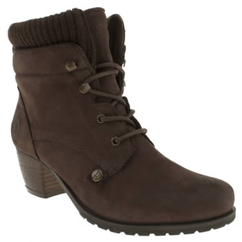 Womens Red Or Dead Brown Knitting Nice Boots