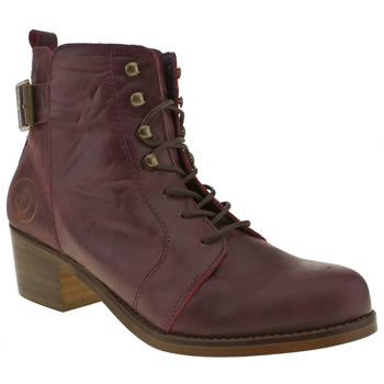 Womens Red Or Dead Burgundy Minor Boots