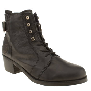 womens red or dead black minor boots