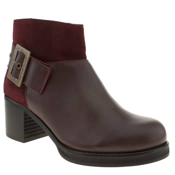 womens red or dead burgundy fun friday boots