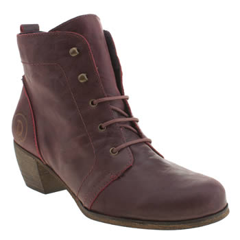 Womens Red Or Dead Burgundy Exam Boots