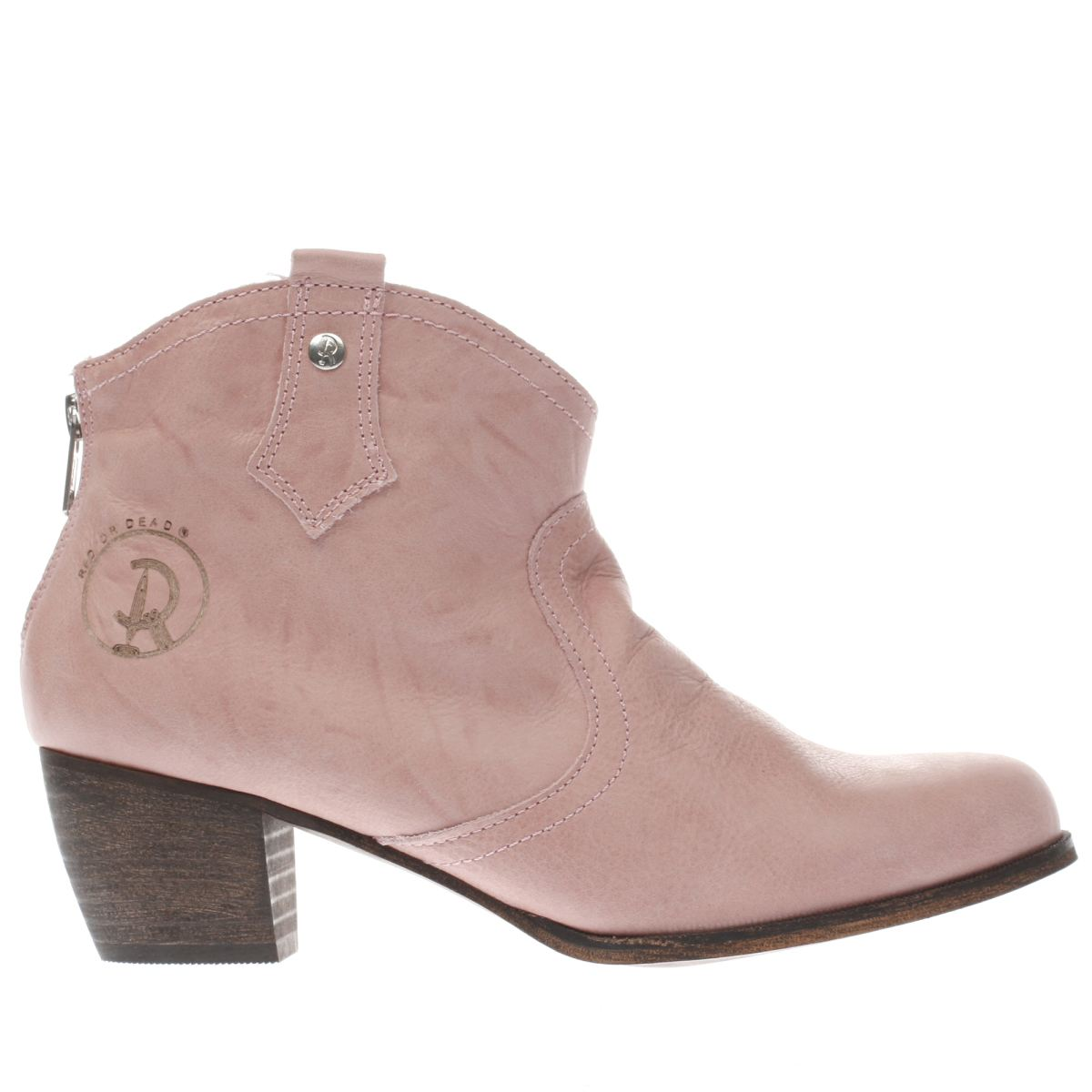red or dead pale pink mountain boots
