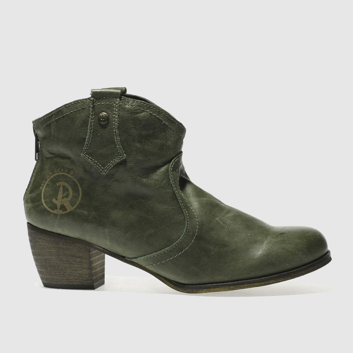red or dead khaki mountain boots