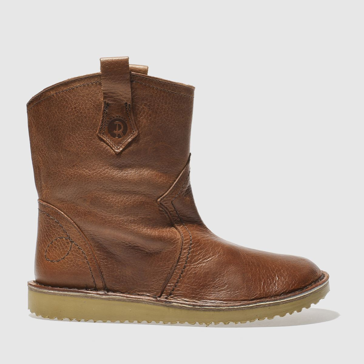 red or dead brown georgetta boots