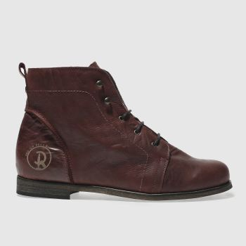 Red Or Dead Burgundy Science Womens Boots