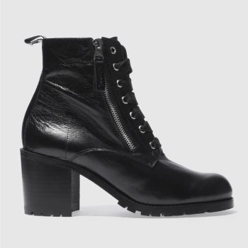 Red Or Dead Black Jagged Womens Boots