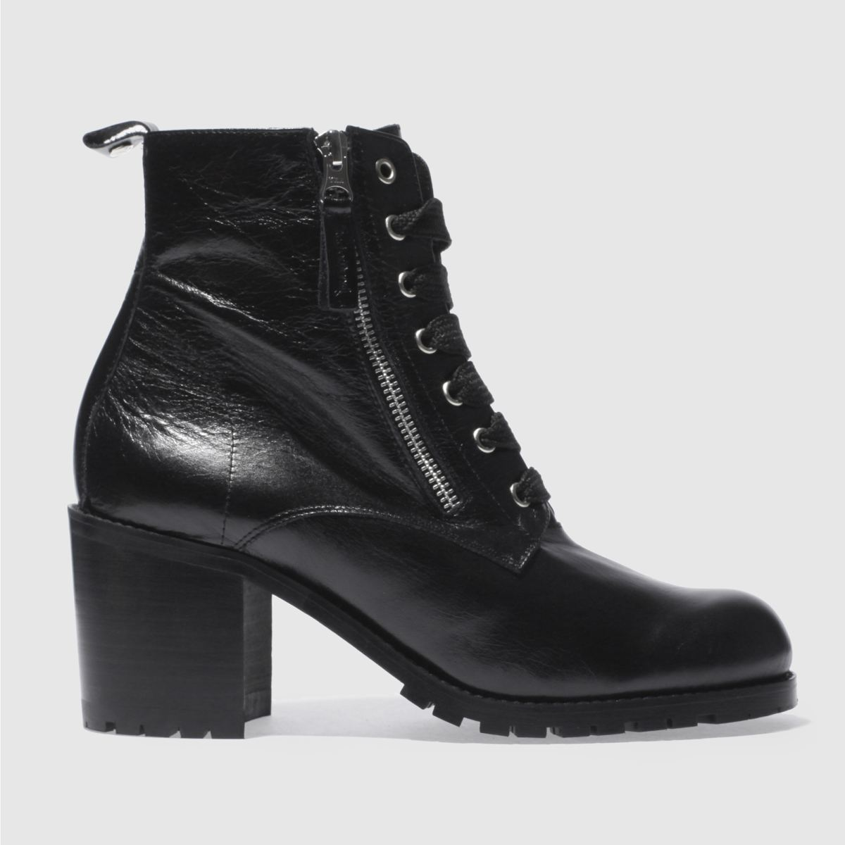 red or dead black jagged boots