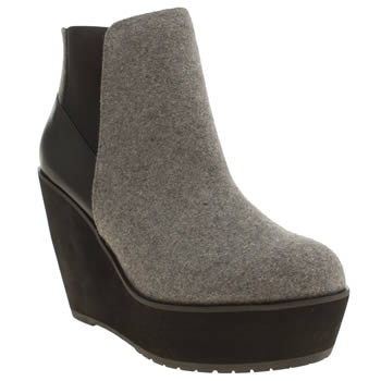 Shellys Grey & Black Campalto Boots