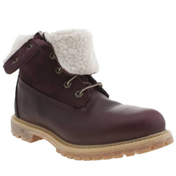 Timberland Burgundy Authentic Teddy Fleece Boots