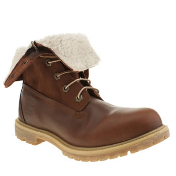 Womens Timberland Tan Authentic Teddy Fleece Boots
