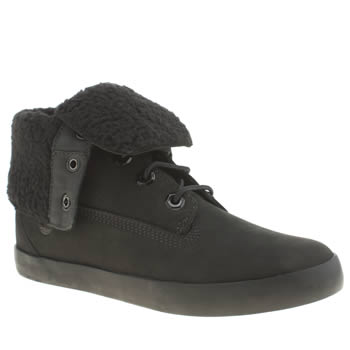 Womens Timberland Black Glastenbury Fold Down Boots