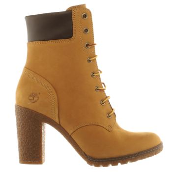 Womens Timberland Natural Glancy 6 Inch Boots