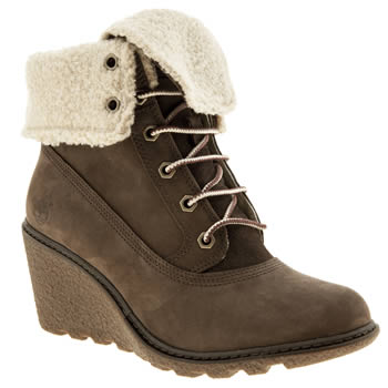 Womens Timberland Dark Brown Earthkeepers Amston Roll-top Boots