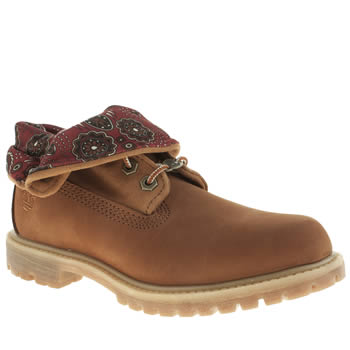 Womens Timberland Natural Authentics Roll-top Boots