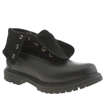 Timberland Black Authentics Roll-top Boots