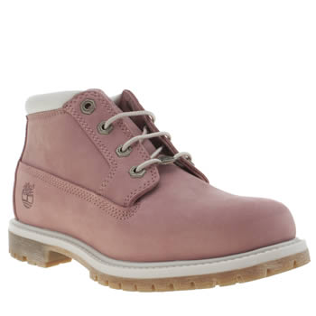 Timberland Pink Nellie Chukka Double Boots
