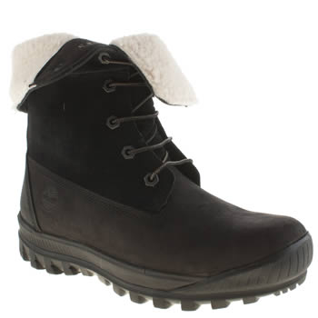 Timberland Black Woodhaven Roll-down Boots