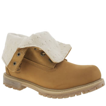 Timberland Natural Authentic Teddy Fold Down Boots