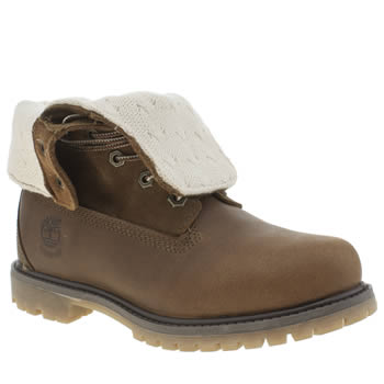 Timberland Tan Authentic Teddy Fold Down Boots