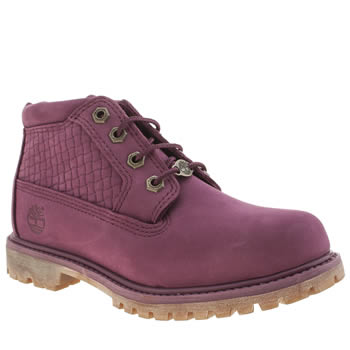 Timberland Purple Nellie Chukka Double Emboss Boots