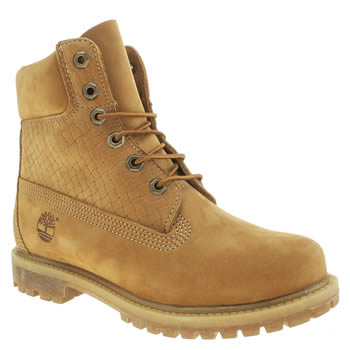 Timberland Natural 6 Inch Premium Emboss Boots