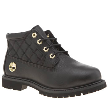 Timberland Black Nellie Quilt Womens Boots