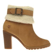 Timberland Natural Glancy Teddy Fold Womens Boots
