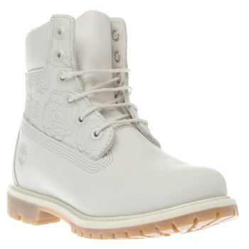 Timberland Stone 6 Inch Premium Embossed Roses Boots