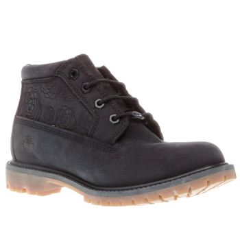 Timberland Navy Nellie Embossed Roses Boots