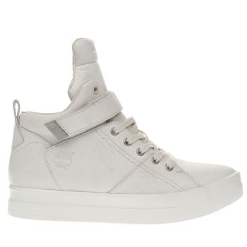 Timberland White Mayliss High Top Strap Womens Boots