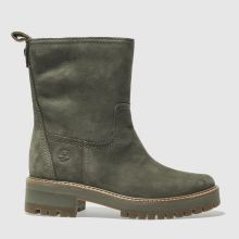 Timberland Khaki Courmayeur Valley Mid Womens Boots