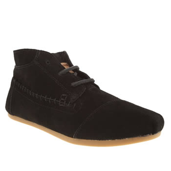 womens toms black tribal boots