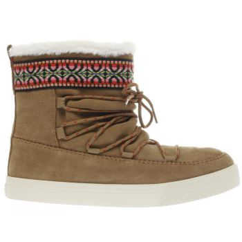 Toms Tan Alpine Boot Womens Boots