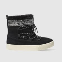Toms Black & White Alpine Boot Womens Boots