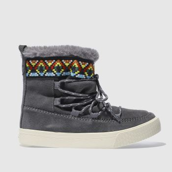 Toms Grey Alpine Boot Womens Boots